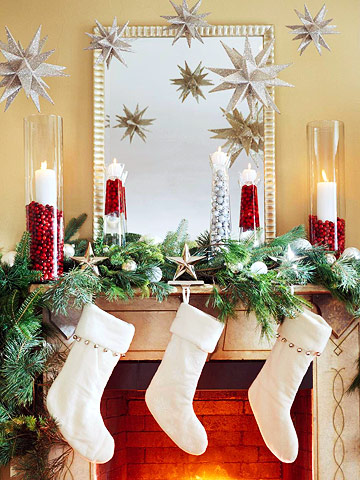 christmas-fireplace-decorating-ideas Tips With Ideas Of Decorations For Christmas Celebrations