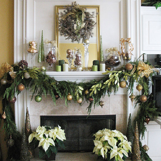 christmas-fireplace-decorations Tips With Ideas Of Decorations For Christmas Celebrations