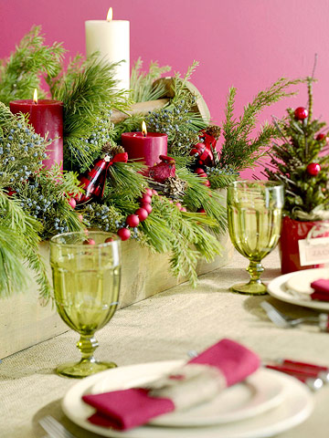 christmas-table-decoration Tips With Ideas Of Decorations For Christmas Celebrations