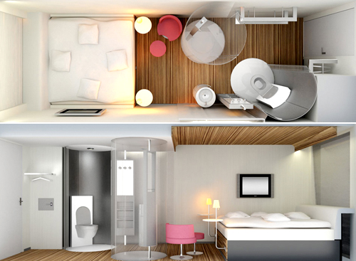 citizenm500x3671 14 Amazing Interior Designs In High-Technology Style