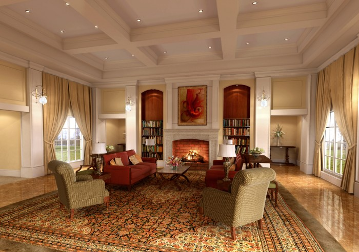 classic_room_by_5tarfish Your Apartment Will Look Wonderful In The Classical Style