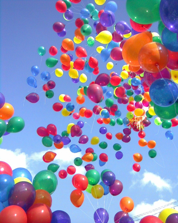 colorful-balloons Muslims' Celebrations In Eid Al-Fitr