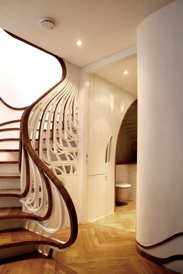 colorful-design-amazing-unusual-curved-stairs Turn Your Old Staircase into a Decorative Piece