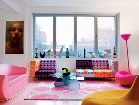 colorful-interior-for-living-room Get A Delight Interior By Applying Some Colorful Designs
