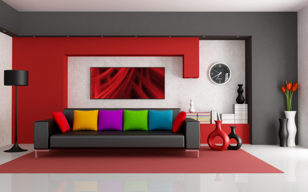 colorful-modern-interior-design-600x375 Get A Delight Interior By Applying Some Colorful Designs