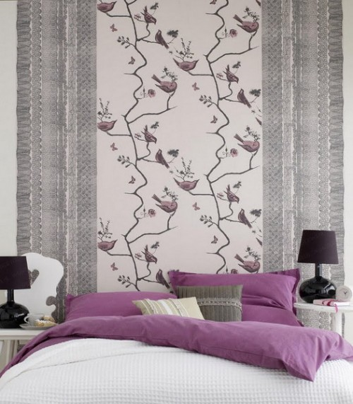 colorful-wallpaper-on-one-wall-2-500x571 Tips On Choosing Wallpaper For Your Bedroom