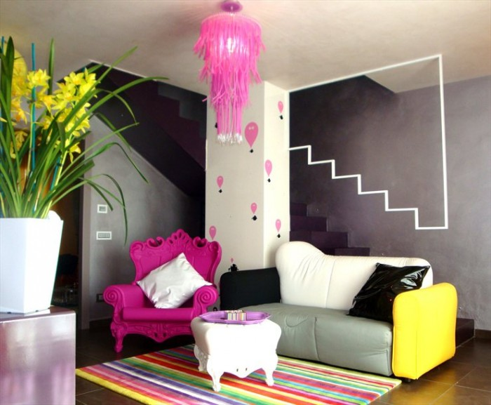 colorful_living_room_2_designs_by_oikia_studio Get A Delight Interior By Applying Some Colorful Designs