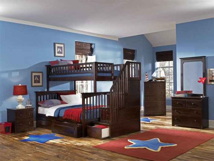 columbia_aw_tf_stair Make Your Children's Bedroom Larger Using Bunk Beds