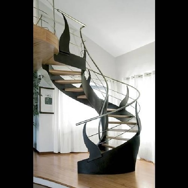 contemporary-staircase-design-ideas Turn Your Old Staircase into a Decorative Piece