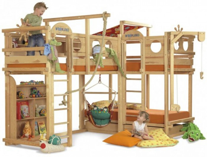 cool-play-bunk-beds1 Make Your Children's Bedroom Larger Using Bunk Beds
