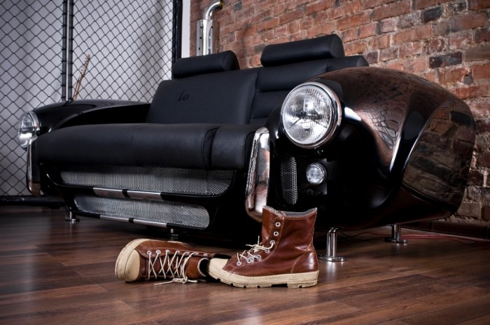 creative-sofa-made-by-real-car-parts 50 Creative and Weird Sofas for Your Home