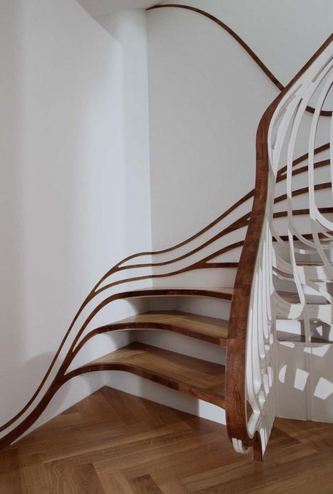 curved-custom-3d-staircase Decorate Your Staircase Using These Amazing Railings
