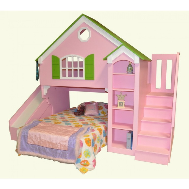 dollhouse_w_stair_slide_27_grn_bnd_resize Make Your Children's Bedroom Larger Using Bunk Beds