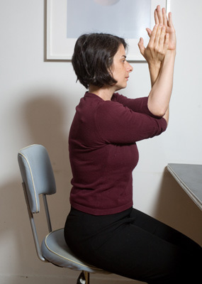 eaglearmsdesk Resolve Your Body's Tension At Work By Doing Computer Yoga