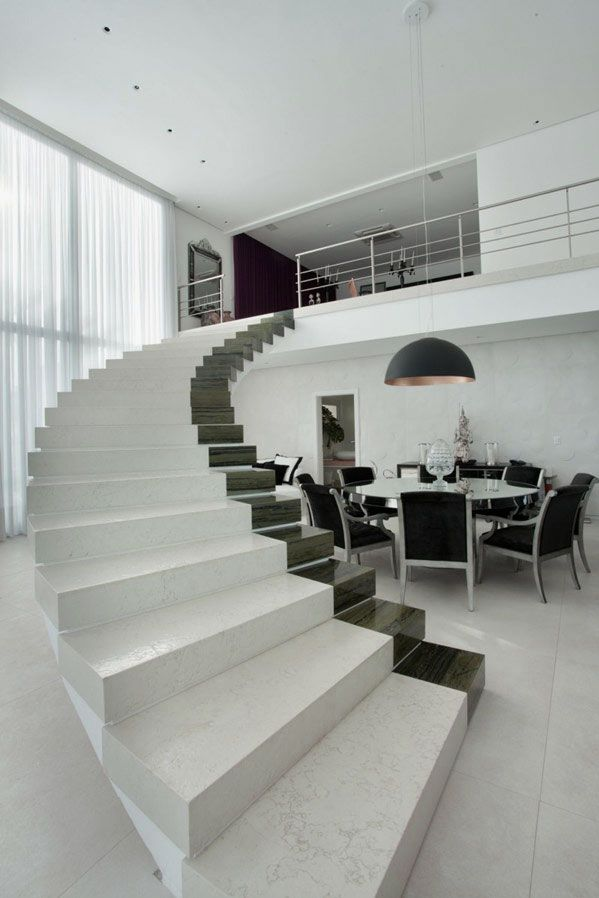 fabulous-white-house-design-ideas-in-brazil-modern-staircase-3737 Decorate Your Staircase Using These Amazing Railings