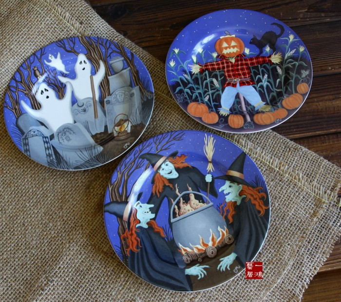 font-b-Ceramic-b-font-tableware-font-b-halloween-b-font-colored-drawing-disk-decoration 20 Wonderful Designs Of Ceramic Plates