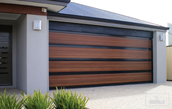 Modern ideas and designs for garage doors pouted online for Wood looking garage doors