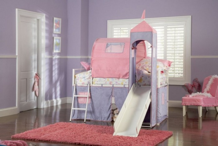 girls_bunk_bed_with_slide Make Your Children's Bedroom Larger Using Bunk Beds