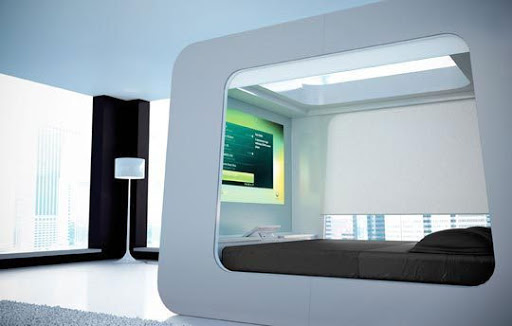 hican-bed-futuristic-bed-room 14 Amazing Interior Designs In High-Technology Style