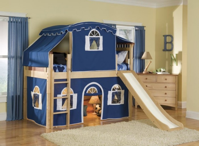 kids-bunk-beds-with-stairs-and-desk-Optional-Tent-Tower-and-Slide-Loft-Bed-hiplyfe-890x654 Make Your Children's Bedroom Larger Using Bunk Beds