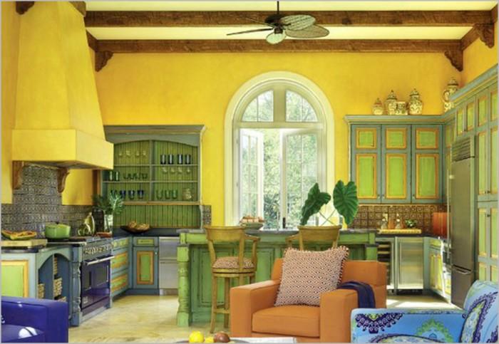 kitchen-idea-ideas-colorful-open-kitchen 10 Amazing Designs Of Vintage Kitchen Style