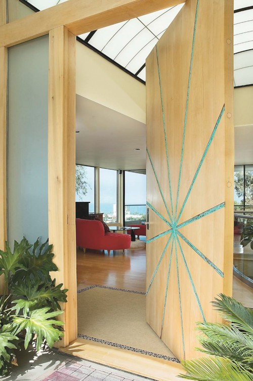 large-wooden-door-design-of-modern-entry It Is Not Just a Front Door, It Is a Gate
