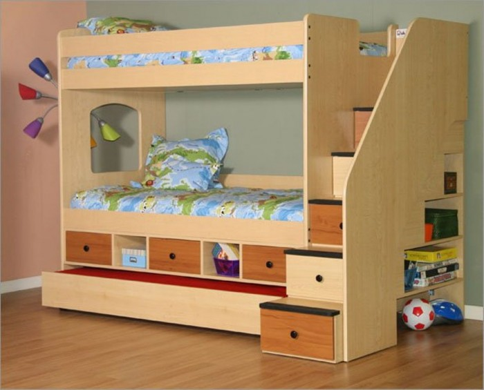 lea-bunk-beds-with-stairs Make Your Children's Bedroom Larger Using Bunk Beds