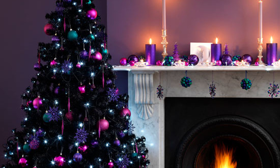 living room christmas christmas decorating ideas asda. Black Bedroom Furniture Sets. Home Design Ideas