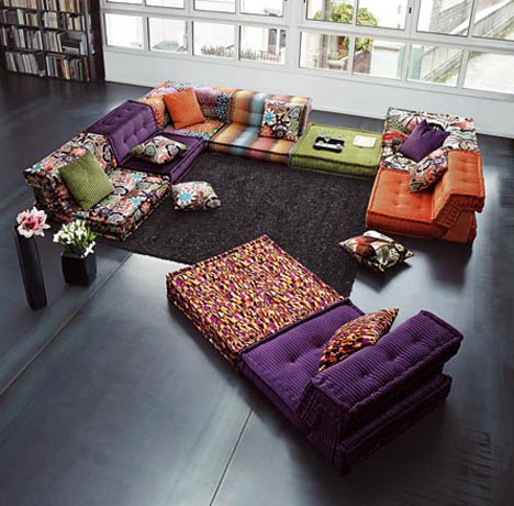 living-room-colorful-furniture-sets2 Get A Delight Interior By Applying Some Colorful Designs