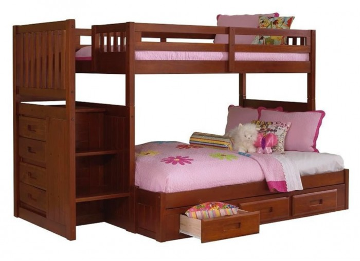 merlot-full-staircase-bunk Make Your Children's Bedroom Larger Using Bunk Beds