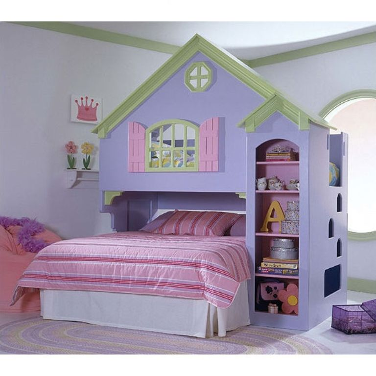 modern-bedroom-ideas-house-loft-bunk-bed Make Your Children's Bedroom Larger Using Bunk Beds