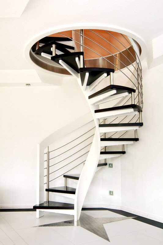modern-circular-staircase-design-ideas Turn Your Old Staircase into a Decorative Piece