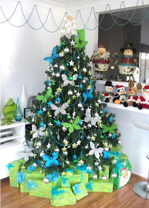 modern-decorating-ideas-for-christmas-tree-15 Tips With Ideas Of Decorations For Christmas Celebrations