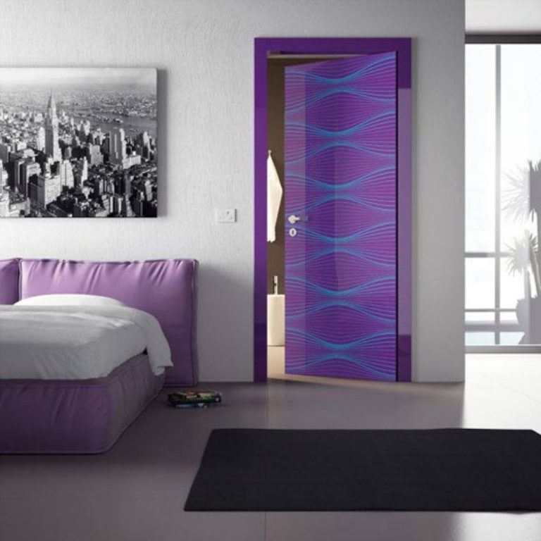 modern-doors-violet-interior-design-ideas-karim-rashid Remodel Your Rooms Using These 73 Awesome Interior Doors