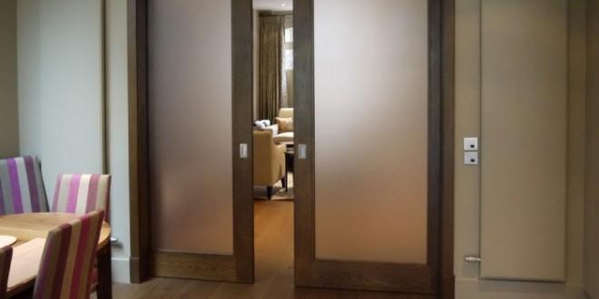 Modern glass pocket doors ideas pouted online magazine - Modern pocket doors interior ...