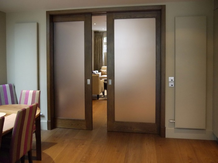 Modern glass pocket doors ideas pouted online lifestyle for Modern glass pocket doors