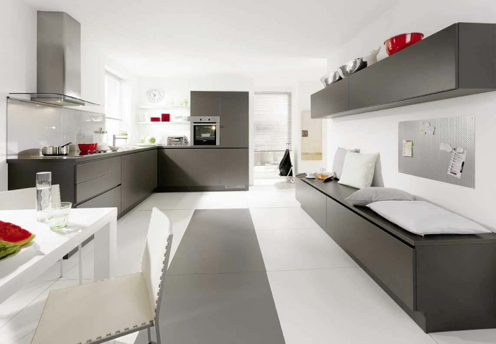 modern-kitchen-interiors-gray-stone 45 Elegant Cabinets For Remodeling Your Kitchen