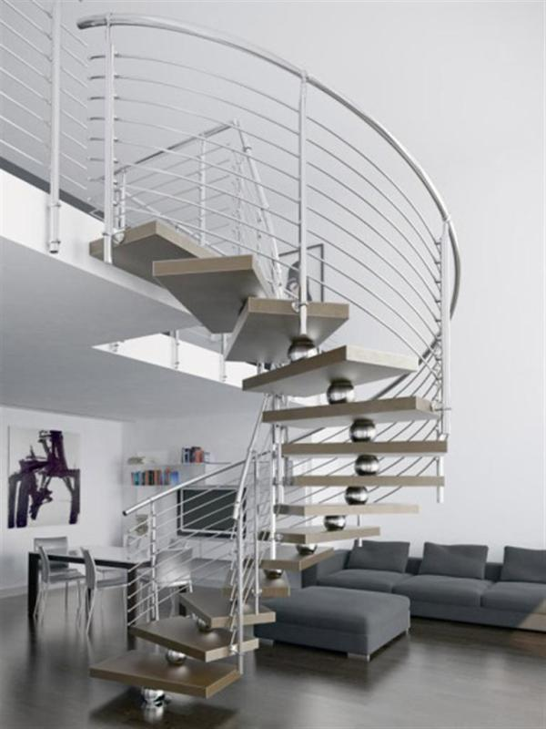 modern-staircase-design-ideas Turn Your Old Staircase into a Decorative Piece