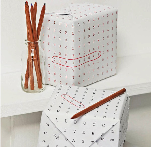 original_christmas-word-search-wrapping-paper 35 Creative and Simple Gift Wrapping Ideas