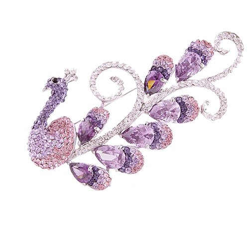 peacock-crystal-brooch-brooches-brooch-pin-brooch-rhinestone-brooches Elegant And Unique Designs Of Brooches
