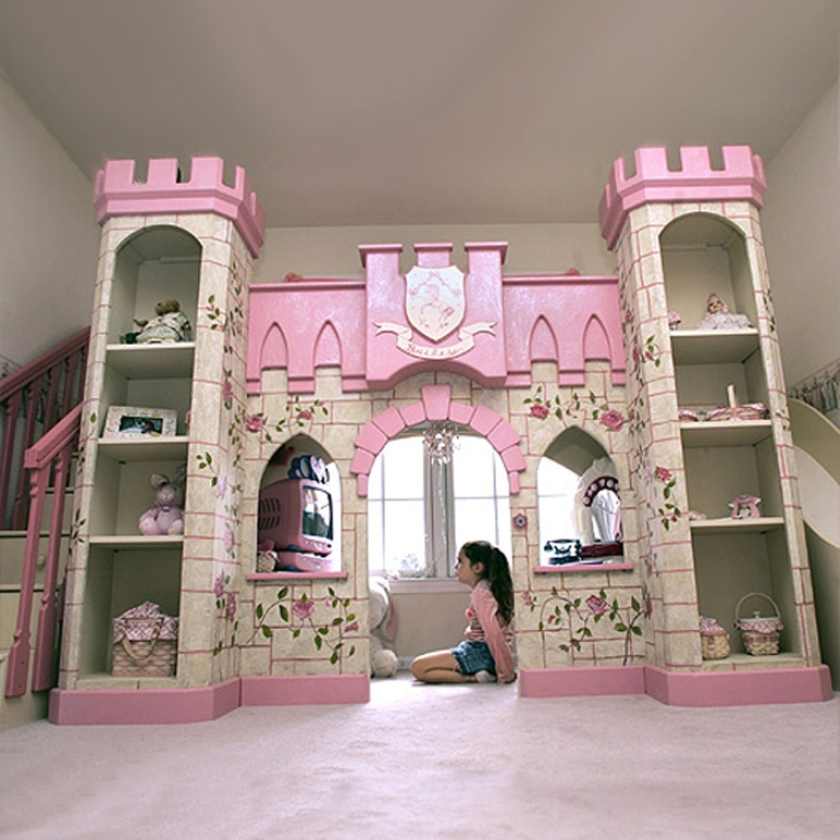playhouse-bunk-beds-interior-design-ideas-kids-bedroom-interior Make Your Children's Bedroom Larger Using Bunk Beds