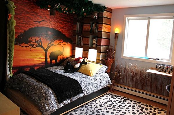 safari-themed-kids-bedroom African Style In The Interior Design