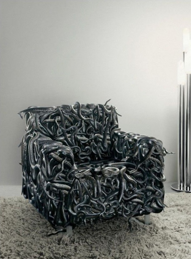 snake-sofa-design1 50 Creative and Weird Sofas for Your Home