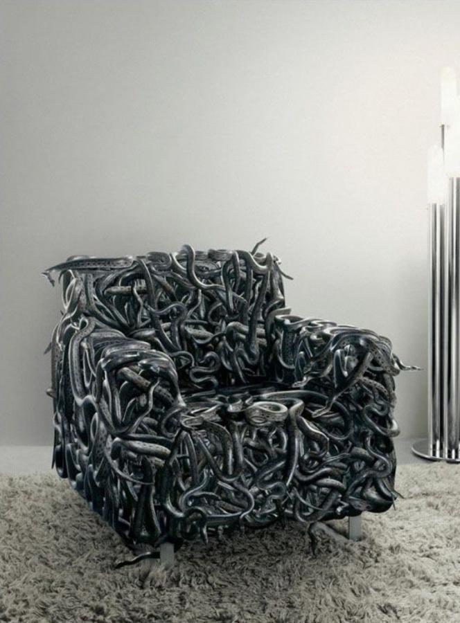snake-sofa-design1 50 Creative and Weird Sofas for Your Home