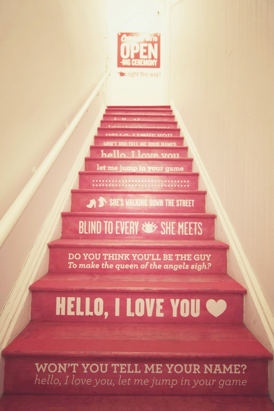 stair-riser-decor-ideas-1 Turn Your Old Staircase into a Decorative Piece