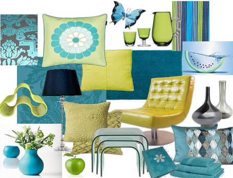 Modern ideas of turquoise furniture for your home interior for Turquoise color scheme living room