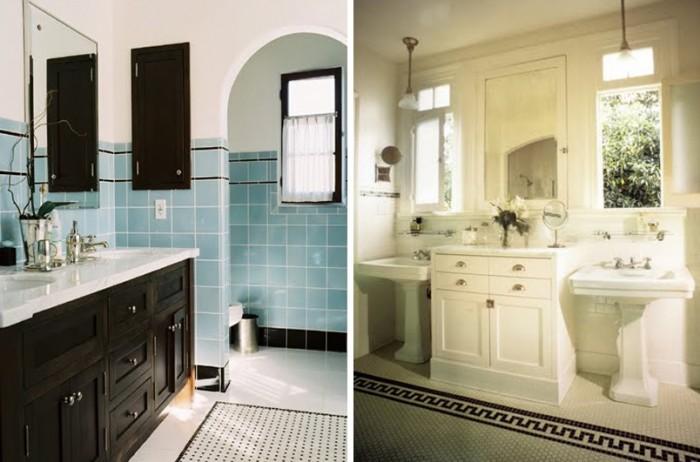 vintage-inspired-bathroom-hex-tile-bathroom-vintage-pedastal-sinkvintage_baby_bed001493vintage_bathroom_001493 16 Stunning Designs Of Vintage Bathroom Style
