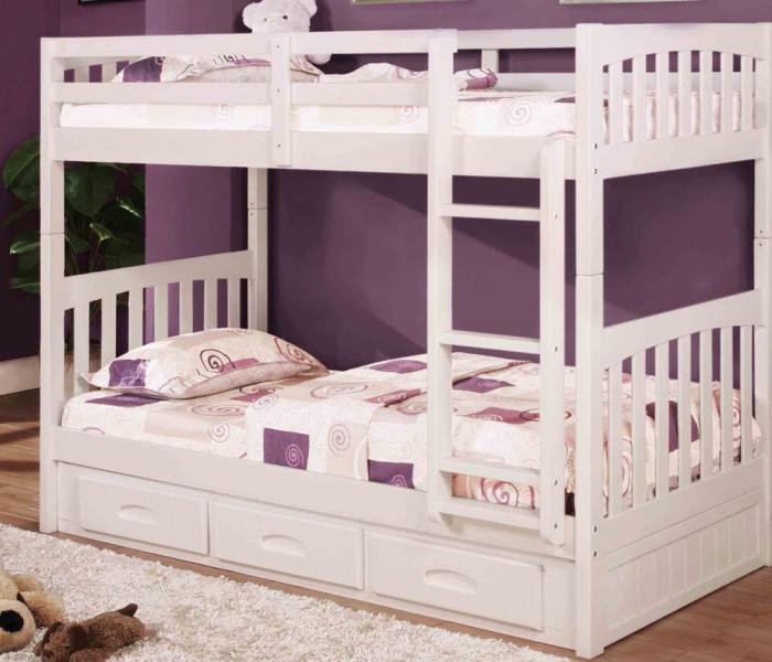 white-bunk-bed-twintwin_1_1 Make Your Children's Bedroom Larger Using Bunk Beds