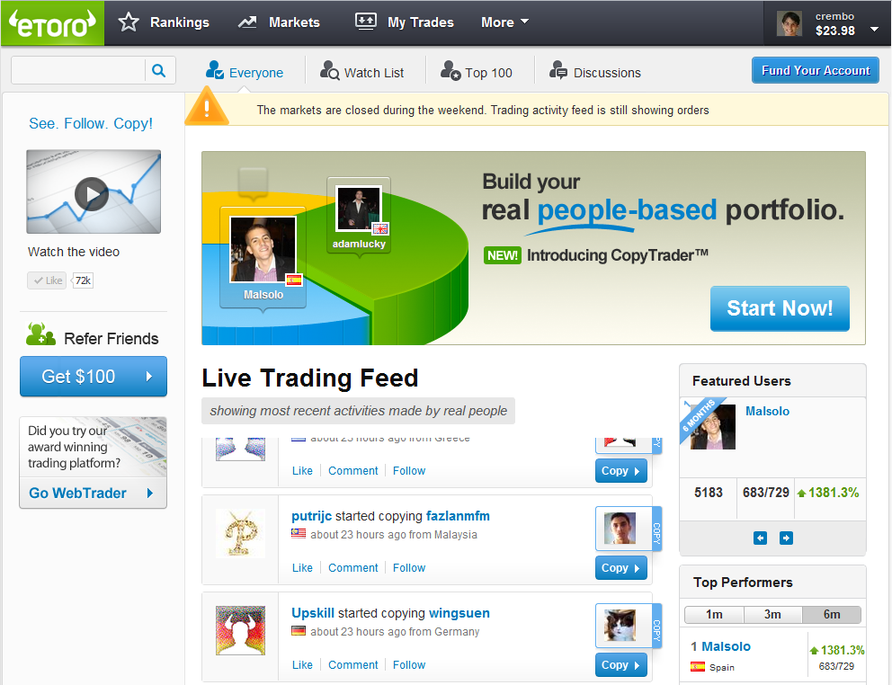 12345 Start Trading with eToro without Prior Experience