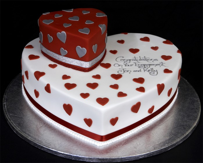 002942-Hearts-Engagement-Cake 10 Simple & Cheap Engagement Gifts for Men